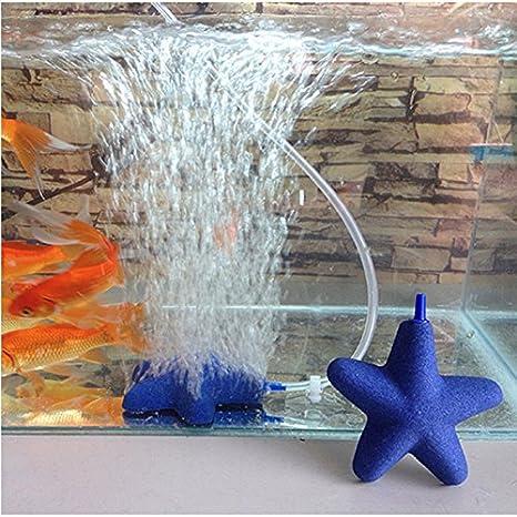 Acuario Pecera Piedra burbuja de aire Piedra burbuja de aire Piedras Forma de Estrella de oxígeno bomba de aire: Amazon.es: Productos para mascotas