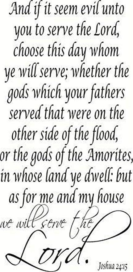 Pegatinas De Pared Baratas Joshua 24:15 Bible Verse And If ...