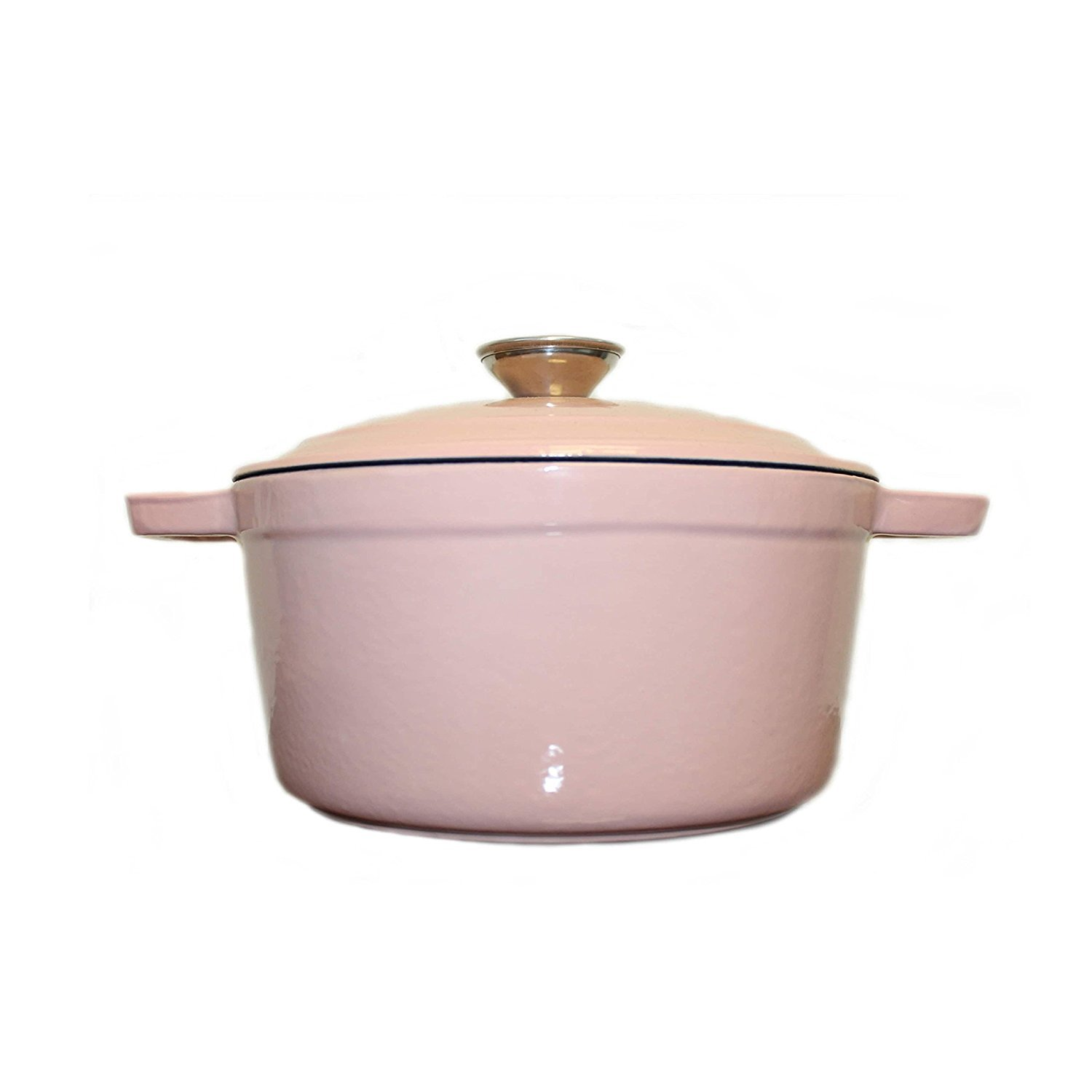 BergHOFF Neo Cast Iron Oval Covered Casserole Dish 5qt Cookware - Pink