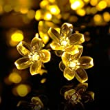 Solar Fairy Lights 30LED Rose Flower String Light Wedding Room Garden Xmas Decor