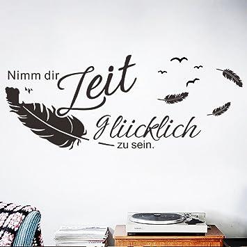decalmile Wandtattoo Sprüche und Zitate Nimm Dir Zeit glücklich zu ...