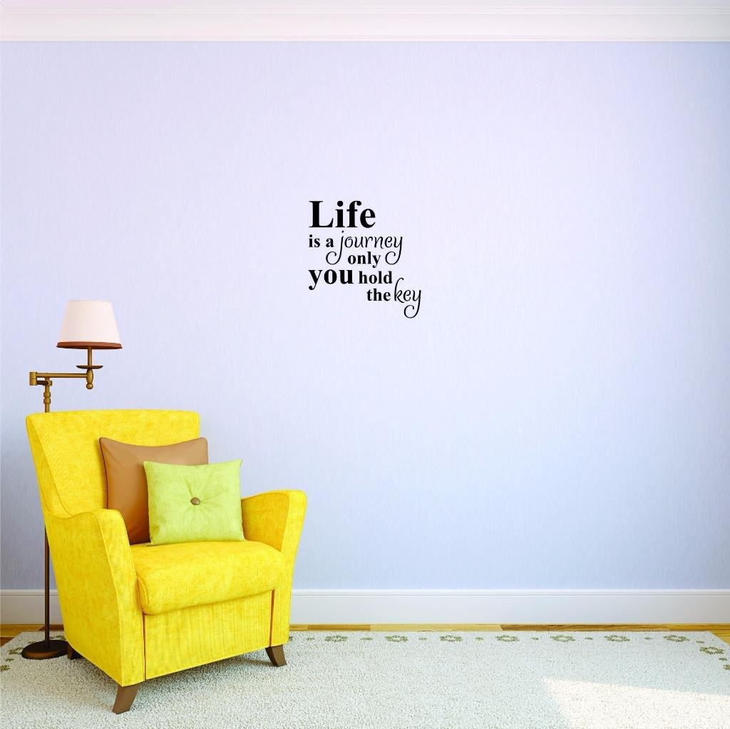 Wall Art Size 14 Inches X 28 Inches Color Design with Vinyl US V JER 2529 2 Top Selling Decals Life Is A Journey Only You Hold The Key Black 14 x 28