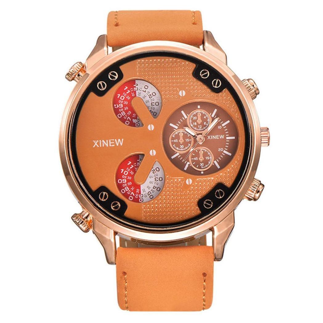 xinewメンズカレンダー腕時計、SinmaカジュアルホワイトAutomatic Mechanical Date Dayレザー手首腕時計 B072P1WG8X