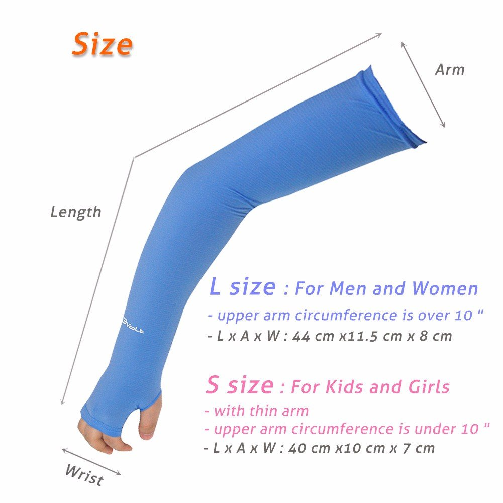 8753022ddcbfa Amazon.com: Compression Arm Sleeve for Men Women Youth - UV Sun Protection  Sleeves Hand Cover Style with Thumb Holes - Cooling Aqua X Extreme Soft  Skin ...