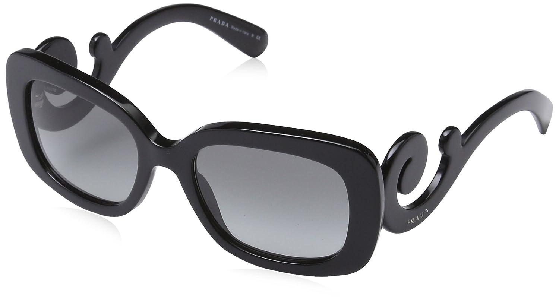 PRADA Prada Damen Sonnenbrille »MINIMAL BAROQUE PR 27OS«, schwarz, 1AB3M1 - schwarz/grau