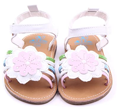 9126356db Femizee Infant Baby Girl Hard Sole Summer Outdoor Sandals Toddler Dress  First Walker Shoes Sunflower,