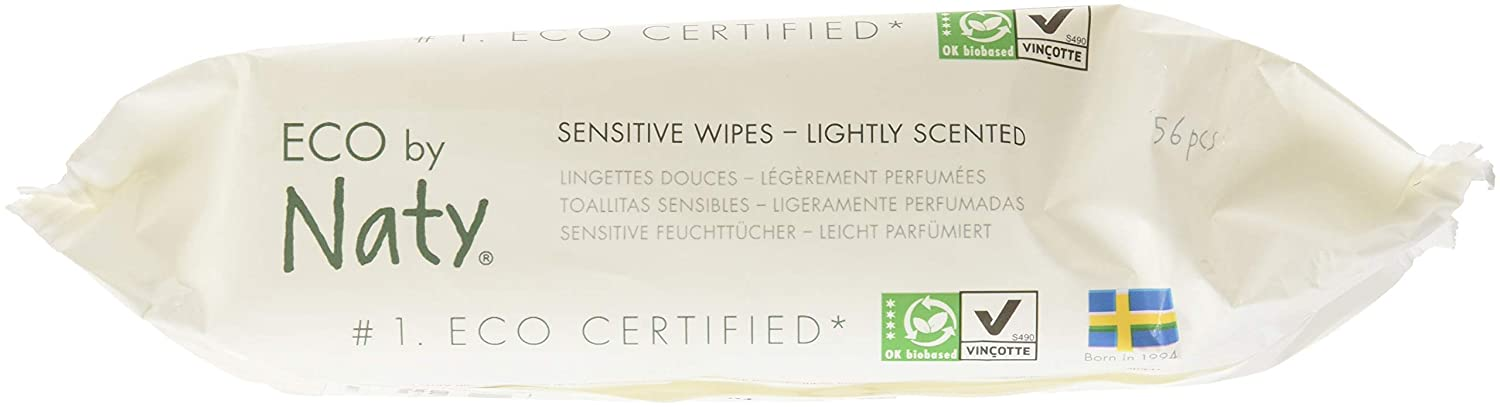 NATY Fragrance Free Sensitive Eco Wipes, 56 CT: Amazon.com: Grocery & Gourmet Food