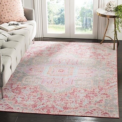 (Safavieh WDS329F-8 Windsor Collection Abstract Area Rug, 8' x 10',)