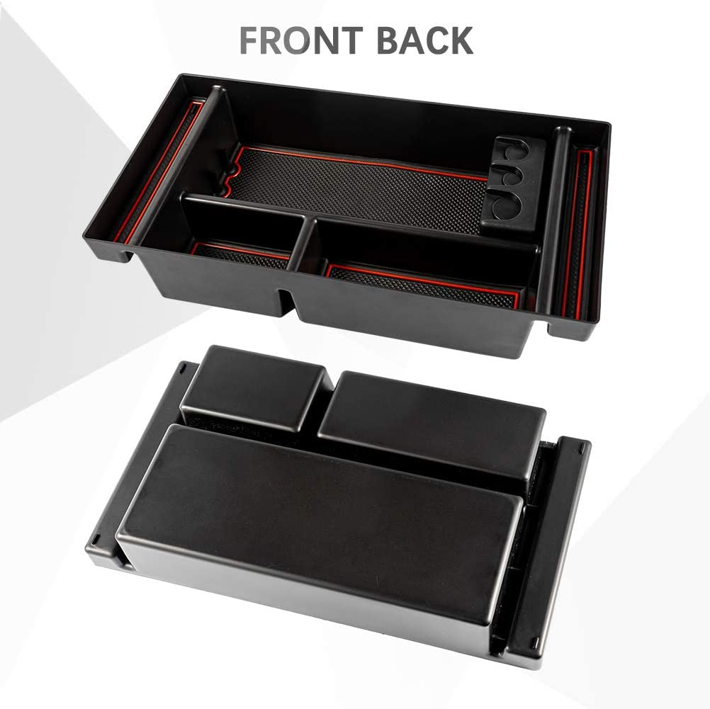 TSINGYUN Center Console Organizer Tray Full Center Console Models Only for 2019 Chevy Silverado 1500//GMC Sierra 1500 or 2020 Chevy Silverado//GMC Sierra 1500//2500//3500HD Armrest Storage Box