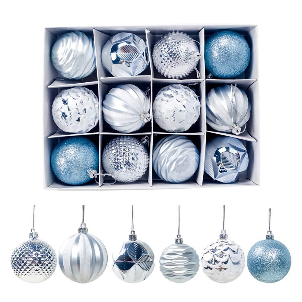 Dorado Eli-CHANBG 12 Piezas de Bolas de Navidad Adornos de oto/ño Decoraciones de Navidad decoraci/ón Festiva de Boda Fiesta