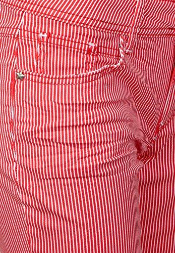 Streifen One Red rot Hibiscus Denim Street York Damen