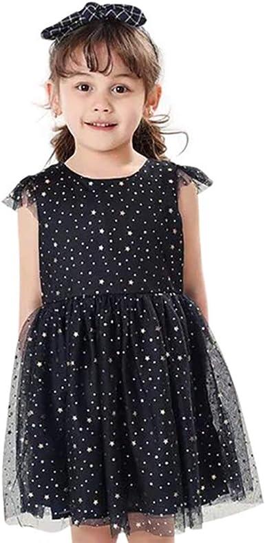 Vestidos Verano Niña Estrellas Lindo Vestidos Niña Tutu Forro de Algodón Vestido de Niña 2-8 años: Amazon.es: Ropa y accesorios