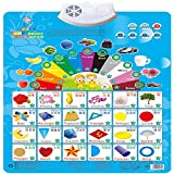 Wall Chart,NACOLA Baby Early Education Audio Digital Learning Chart Preschool Toy, Sound Toys For Kids-Color Shape