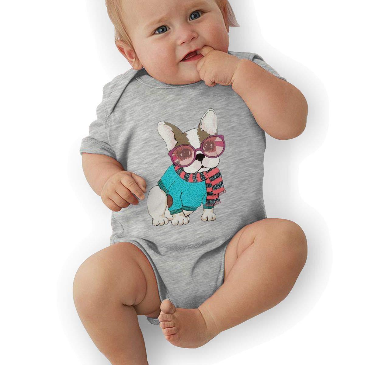 HappyLifea Cute Fashion Dog Newborn Baby Short Sleeve Romper Infant Summer Clothing