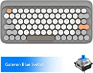 Wireless Mechanical Keyboard, LOFREE Four Seasons Bluetooth Keyboard with Gateron Blue Switch/White LED Backlit/Rechargeable