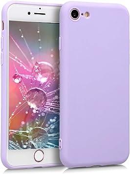 Image ofkwmobile Funda Compatible con Apple iPhone 7/8 / SE (2020) - Carcasa de TPU Silicona - Protector Trasero en Lila