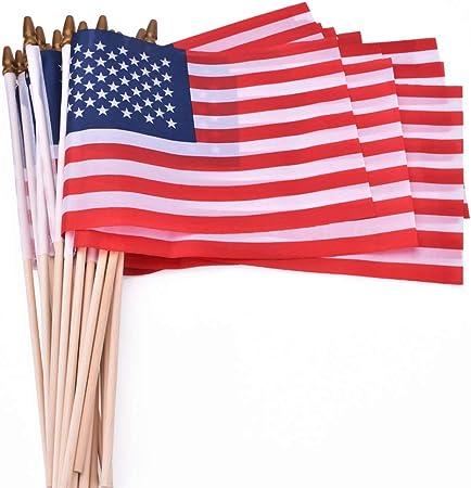 "HAND WAVING FLAG 9/"" x 6/"" WOODEN STICK CHOOSE YOUR DESIGN"