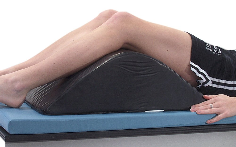 Deluxe Knee Bolster, Black Conductive, 16 x 7-1/2 x 24 inches