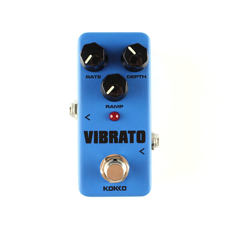 KOKKO FVB2 Mini Vibrato Guitarra eléctrica Pedal de efectos Accesorios de guitarra y bajo (Color: Azul): Amazon.es: Instrumentos musicales