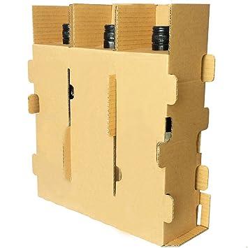 10 compresas para 3 botellas de vino para cajas de cartón 325 x 125 x 360 mm: Amazon.es: Oficina y papelería