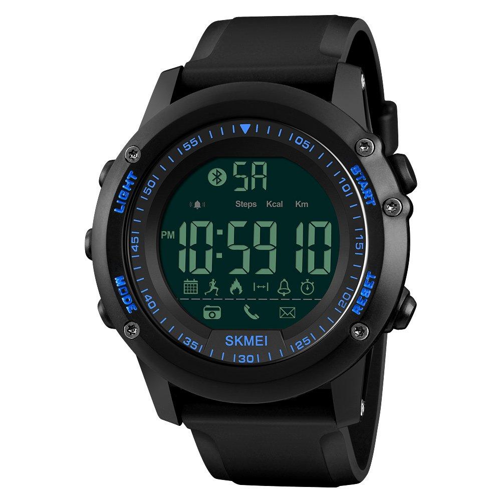 Bluetoothスマートウォッチメンズ、歩数計防水レディースデジタル腕時計、Fitness TrackerリモートカメラCalorie Android IOSのスマートフォン Dial Diameter: 1.97