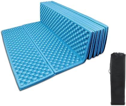 BeGrit Sol - Colchón de espuma plegable para camping, impermeable, mantiene el calor, espuma suave para viajes al aire libre, picnic, playa, pesca, ...