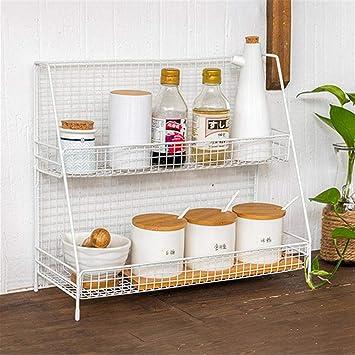 Edelstahl Wandregal Lagerung Rack Regal Doppelschicht-Speicher-Halter Küche  Lagerung Display Rack lagerregal Metall Passend für Schlafsaal, Küche, ...