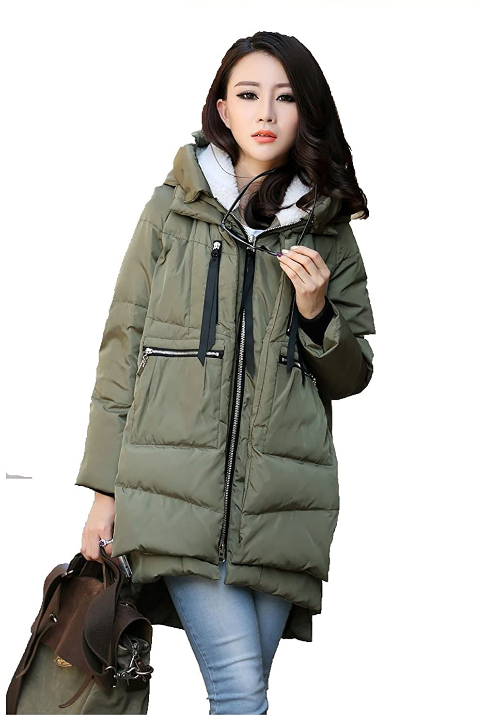 Winter Thickened Long Down Jackets Women Warm Plus Size Coat Maxi Outerwear 110021