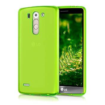 kwmobile Funda para LG G3 S D722V - Carcasa Protectora de [TPU] para móvil - Cover [Trasero] en [Verde]