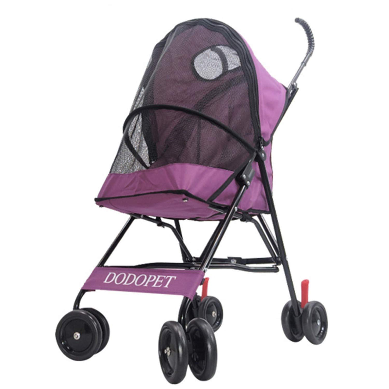 B Pet Stroller Four-Wheeled pet Stroller Folding Trolley (color   B)