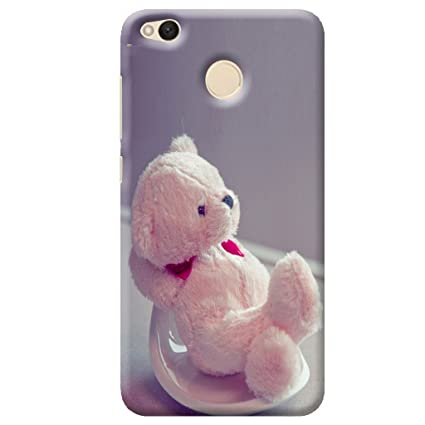 buy popular 0ab4d 8efbc Redmi 4 Back Cover/ Redmi 4 Teddy Bear Printed Pink Back Cover By Case Cover