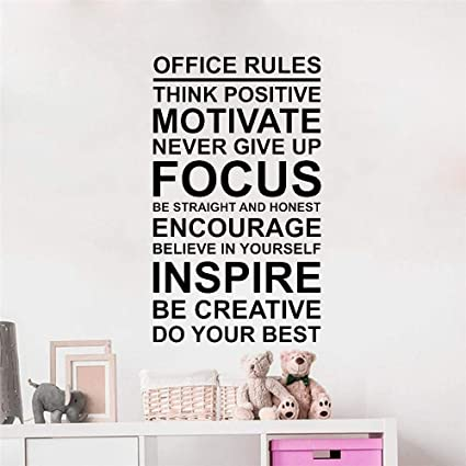 Adesivo Da Ufficio Poster Da Parete Lavoro Motivazione Motivazione Lavoro Di Squadra Adesivo In Vinile Art Amazon It Fai Da Te