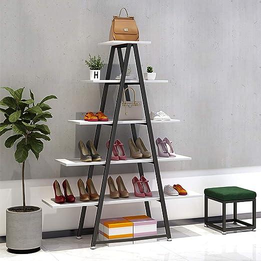 GWXYMJ Perchero Zapatero Shop para Mujer Expositor de Tienda de Ropa de pie Estantería Multifuncional para Bolsa de Zapatos de casa: Amazon.es: Hogar