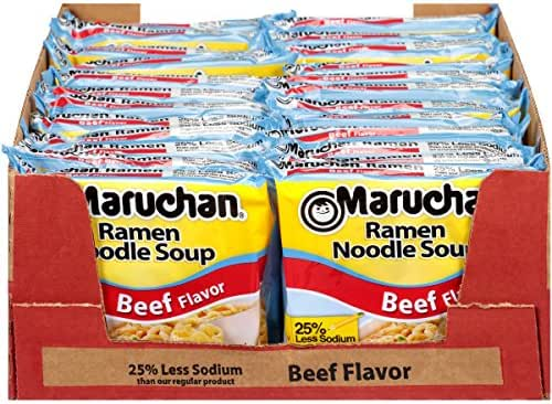 Asian Noodle Soup: Maruchan Ramen Less Sodium