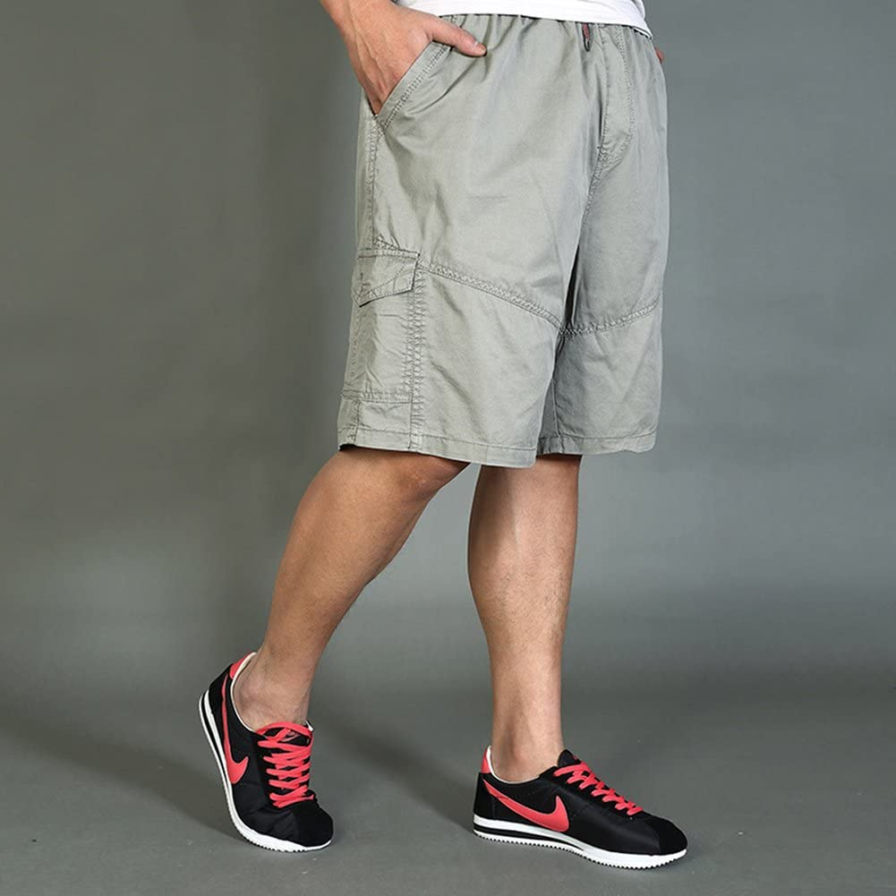 Chickle Mens Cotton Loose Fit Summer Cargo Shorts