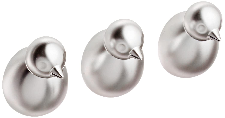 Umbra - Perchero (níquel, 3 Unidades), diseño de pájaros