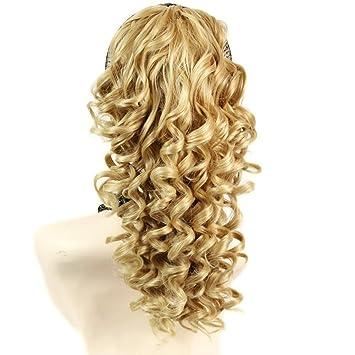Spiral Curly Hair Piece Blonde mix Ponytail