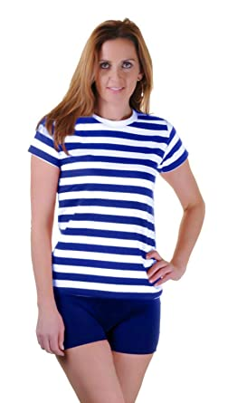 ba87e75c492e59 Mens Blue Black Red White Stripe Womens Book Week Boys Girls Kids Striped  Tshirt Fancy Top