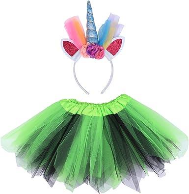 TENDYCOCO Falda de tutú para niñas Vestido de Princesa Unicornio ...