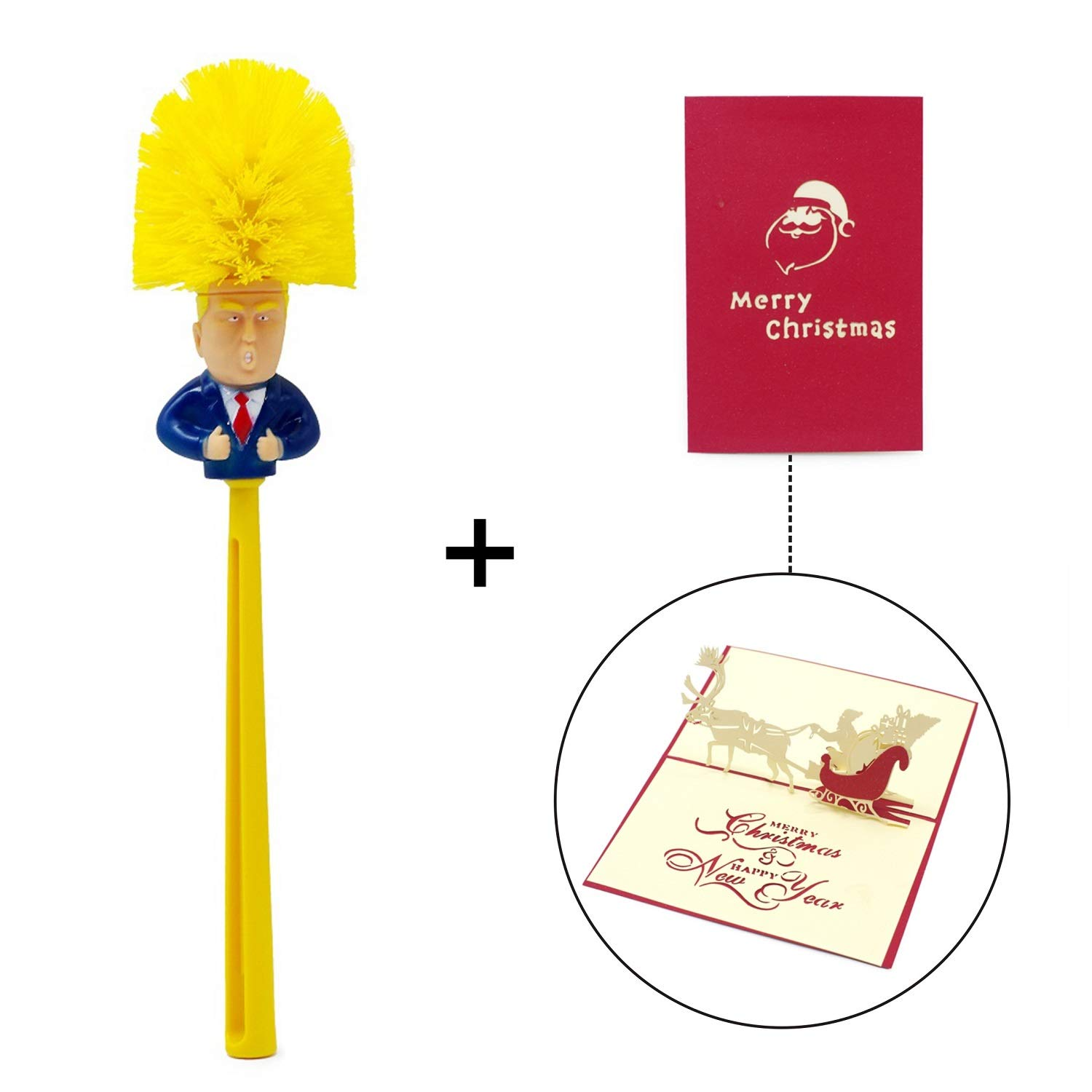 Bravo Sport Donald Trump Toilet Brush, Make Toilet Great Again, Novelty Political Gag Gift