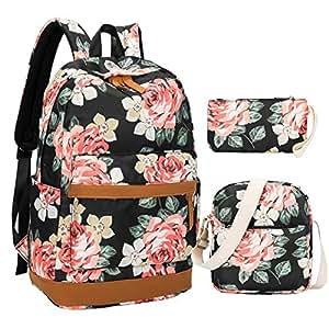 7e3a67d43 Amazon.com | Girl School Backpack Women Laptop Schoolbag Bookbags ...