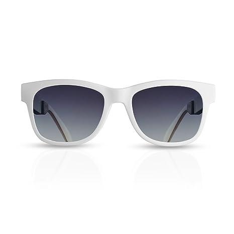 fba3870073 Gafas de Conducción ósea con Auriculares Inalámbricas Bluetooth con  Audífonos estéreo Música Manos libres Gafas de