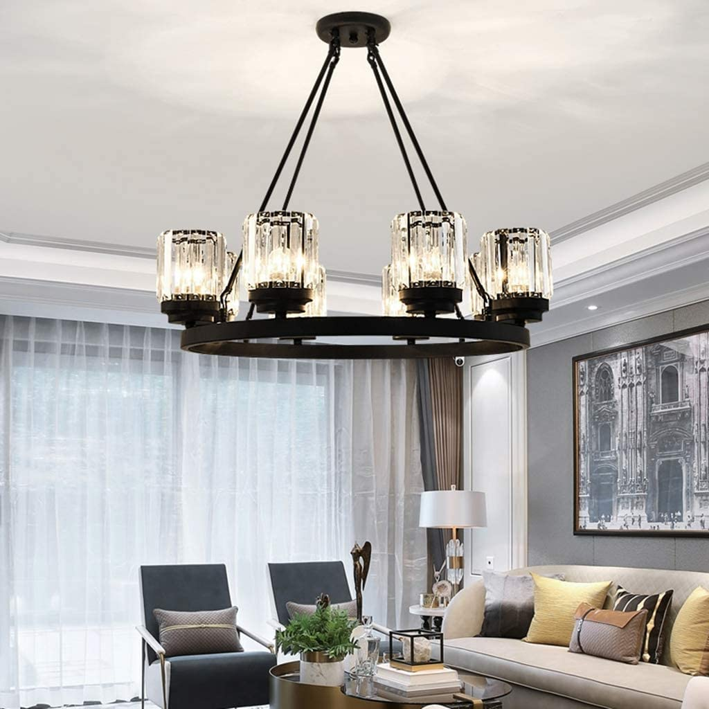 DBL Led Chandelier Retro Pendant Crystal Chandelier Lighting Pendant Light Pendant Lamp Dining Room Pendant Lamp Bedroom chandelier (Size : 8heads) 10heads
