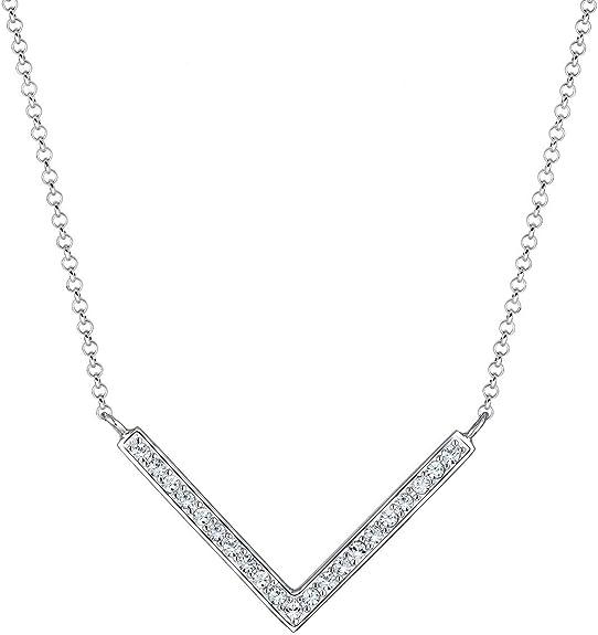 Elli Collier pour Dames en 925 Argent Cristal de Swarovski Forme de V