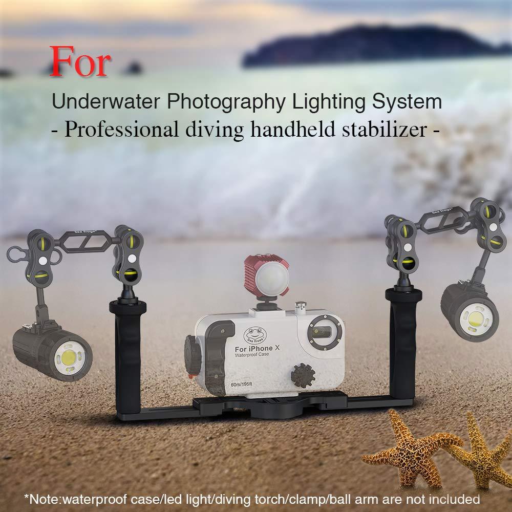 Sea frogs 水中カメラハウジングのためのアルミトレイ×グリップ   B07F8LQJ9W