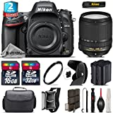 Holiday Saving Bundle for D610 DSLR Camera + 18-140mm VR Lens + 2yr Extended Warranty + 32GB Class 10 Memory + Backup Battery + 16GB Class 10 + Case + Tulip Lens Hood + UV - International Version