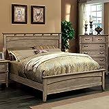 Best 247SHOPATHOME Bed Frames - Loreta Transitional Bleach Oak Finish Queen Size Bed Review