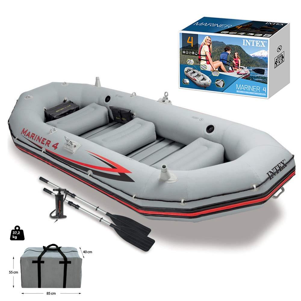 BQT Kayak Inflable Bote de Pesca Dinghy Conjunto, 5 Persona Bote ...