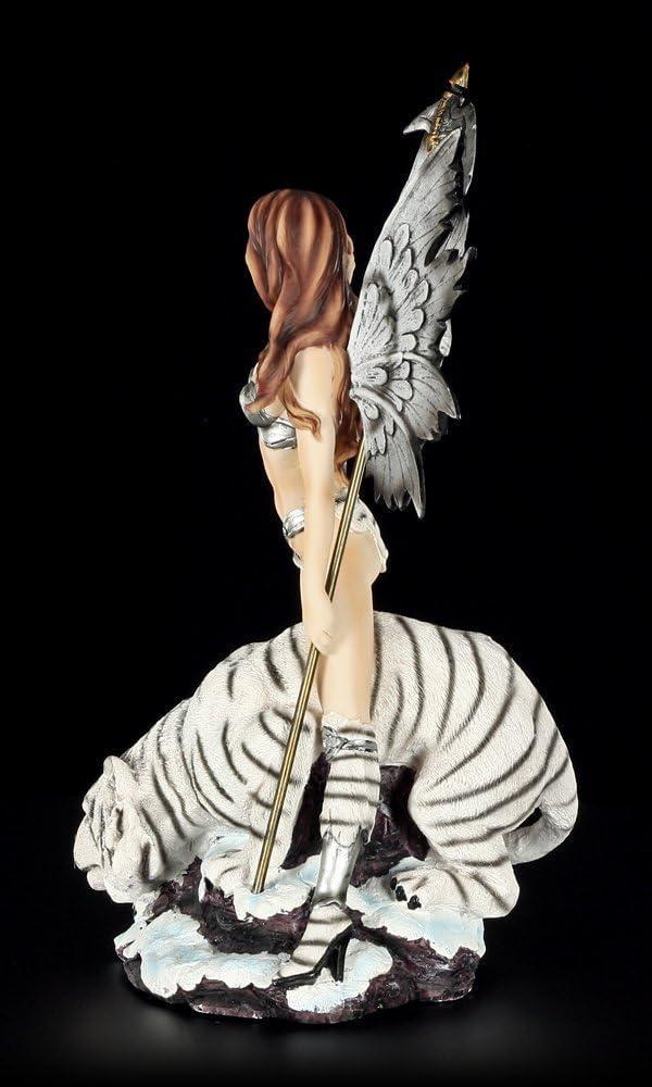 /Guerriers avec Tigre Blanc/ Elfes Figurine/ /Figurine elfe F/ée Fairy D/éco