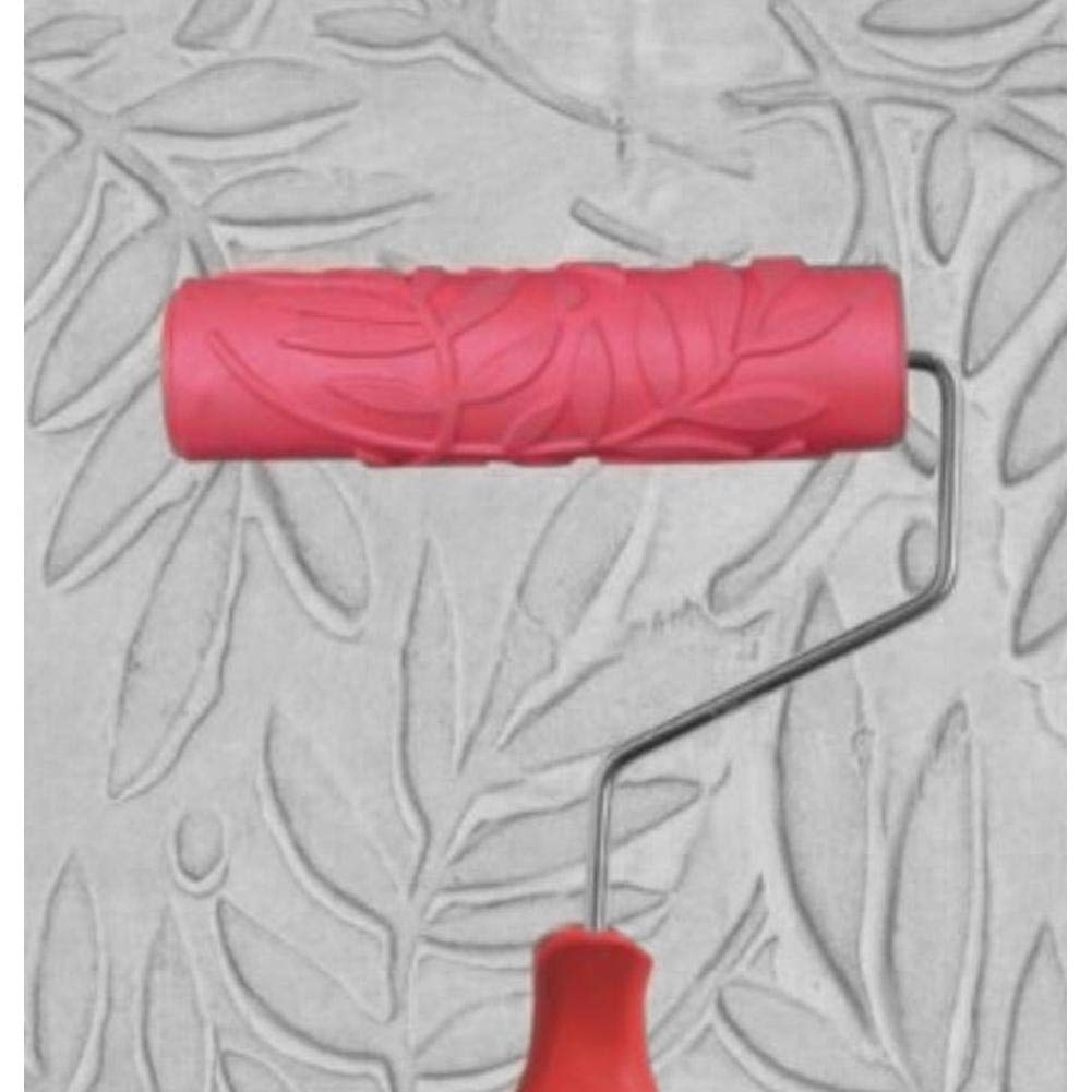 Jocestyle Brick Roller Embossed Paint Roller Wall Brick Pattern Rubber Paint Roller for Wall Decoration